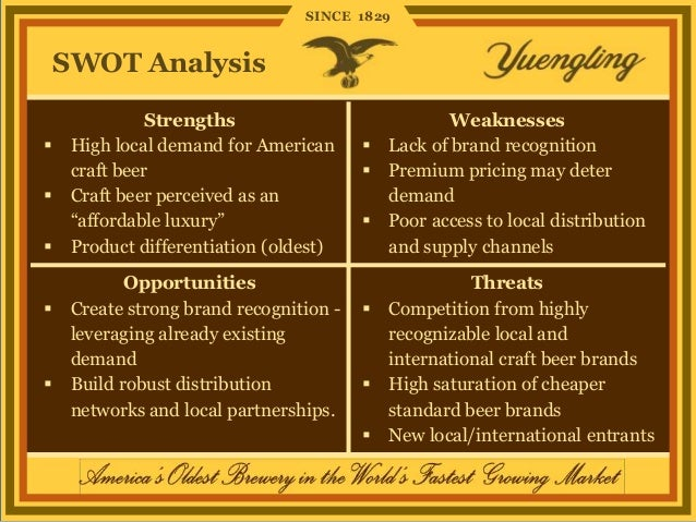 boston beer company swot anaylsis Bus 599 cs 1upload  specialty (beer, wine and cheese), coffee and tea,  including a swot analysis, a scan of the company's competitive environment,.