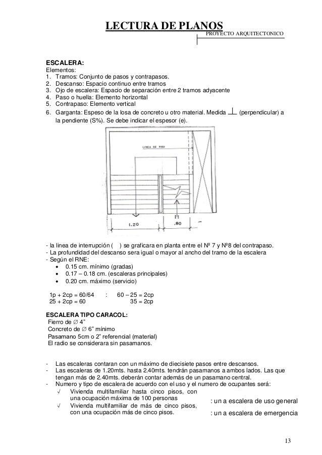 46122487 lectura de planos for Formula escalera