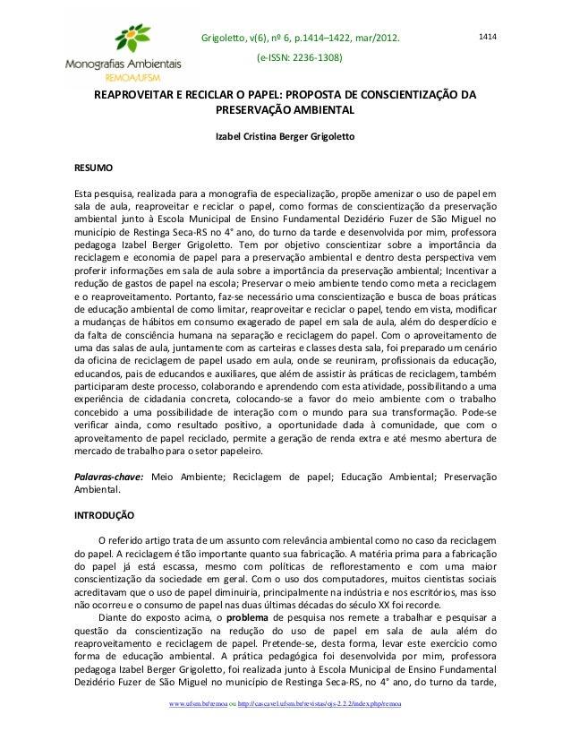 Grigoletto, v(6), nº 6, p.1414–1422, mar/2012.  (e-ISSN: 2236-1308)  www.ufsm.br/remoa ou http://cascavel.ufsm.br/revistas...