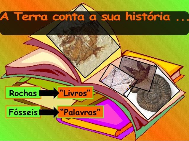 "Rochas ""Livros"" Fósseis ""Palavras"""