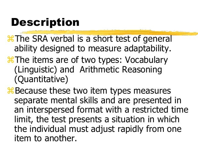 Ebook Sra Verbal Form Test And Answer