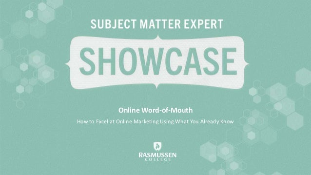 Online Word-of-Mouth How to Excel at Online Marketing Using What You Already Know