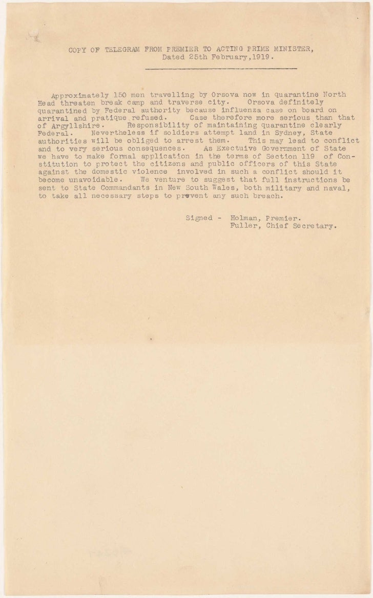 Influenza epidemic, 1918-19
