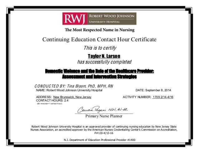 Nursing Certificate Taylor Larson 9814