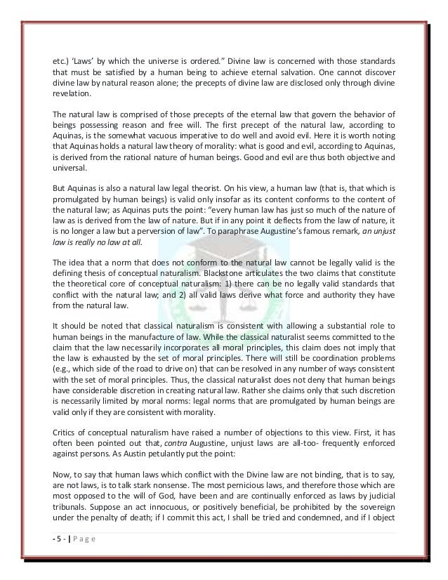 natural law and legal positivism essay This essay has been submitted by a law student this is not an example of the work written by our professional essay writers natural law theory / legal positivism.
