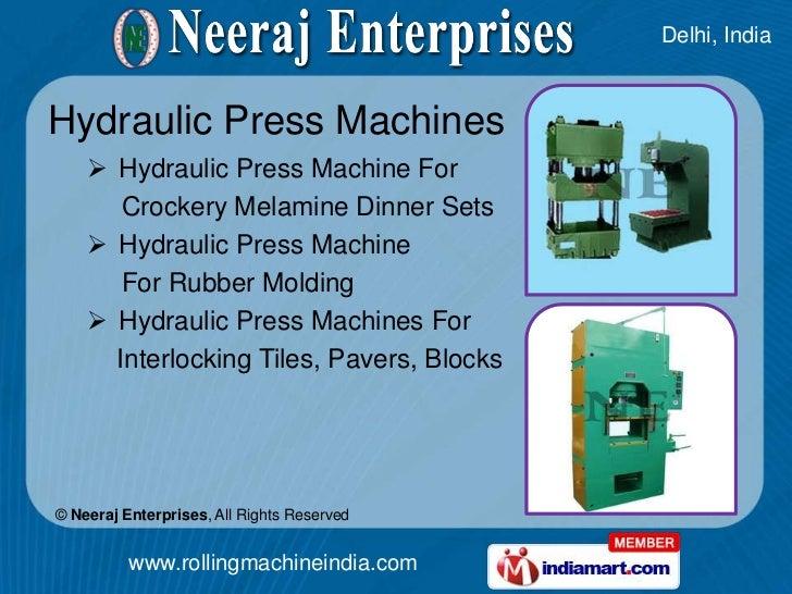 Industrial Section Rolling Machines By Neeraj Enterprises