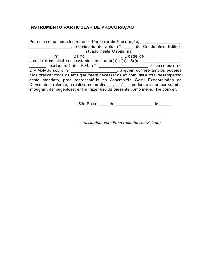 INSTRUMENTO PARTICULAR DE PROCURAÇÃOPor este competente Instrumento Particular de Procuração, ____________________________...