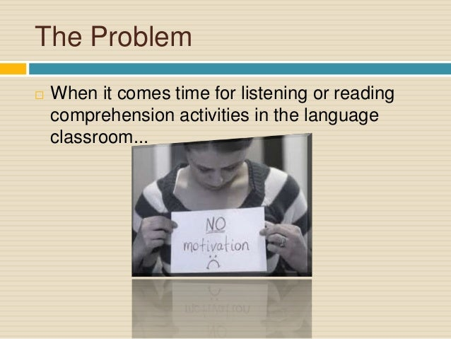 problems from listening materials Adult esl instruction: some suggested materials learner english: a teacher's guide to interference and other problems, 2nd ed, by michael swan and bernard smith listening these materials have accompanying audio components.