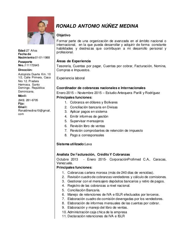 Curriculum Vitae De Empresas De Servicios Curriculum Y Carta De
