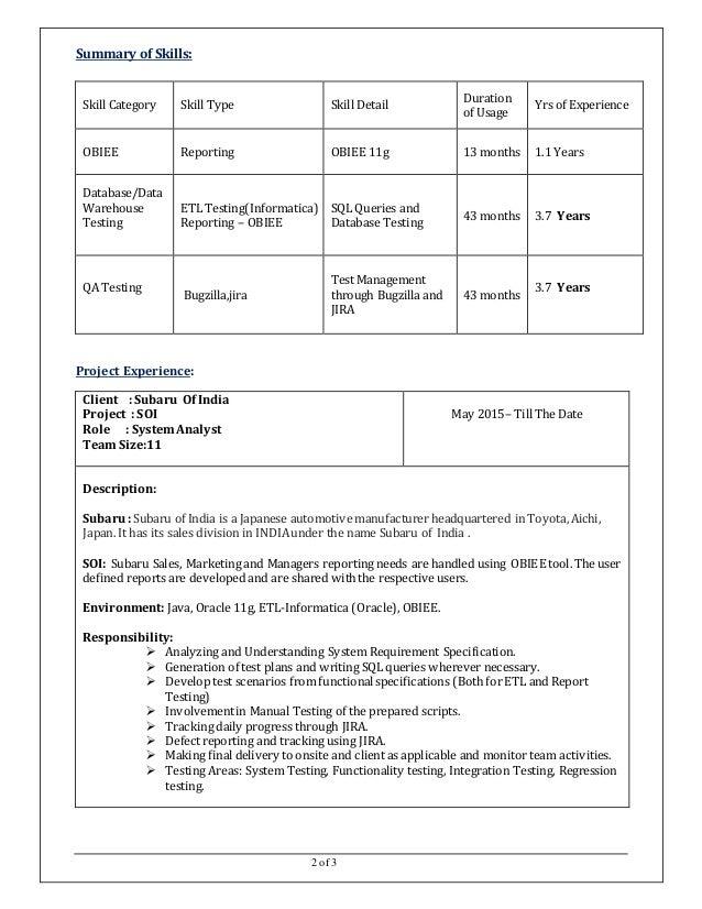 2 - Etl Testing Resume