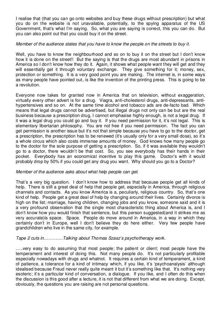 thomas szasz the myth of mental illness pdf