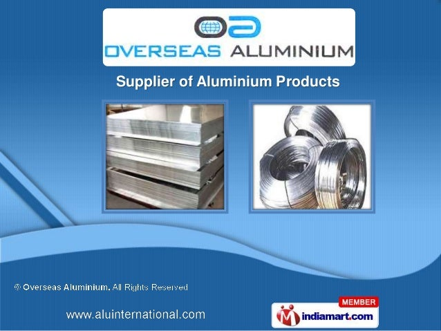 Supplier of Aluminium Products
