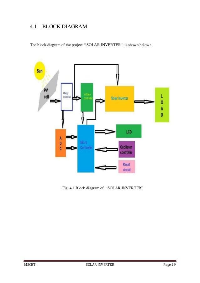 solar invertermscet solar inverter page 28 chapter 4 projectimplimentation; 39 mscet solar inverter page 29 4 1 block diagram