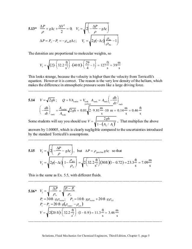 Fluid Mechanics for Chemical Engineers, 3rd Edition