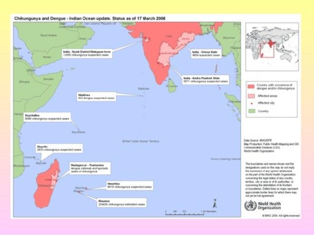 • Chikungunya fue primera vez descrita en Tanzania, Africa en 1952. • Un brote de chikungunya fue descubierto en Puerto Kl...