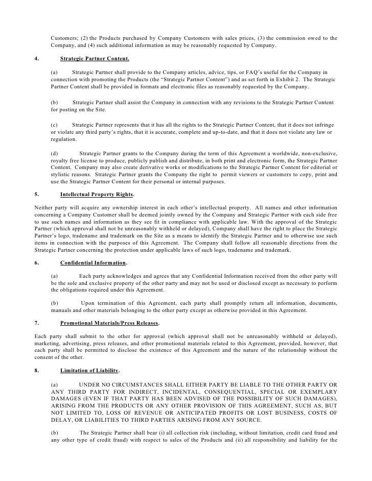 Marketing Partnership Agreement Template Selol Ink