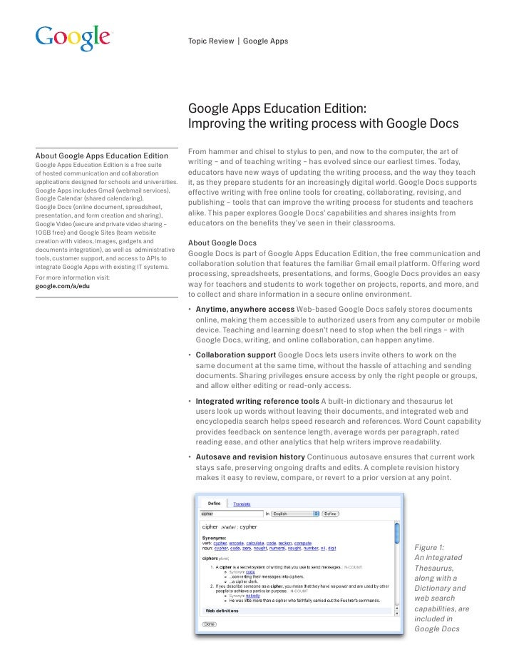 Topic Review | Google Apps                                                           Google Apps Education Edition:       ...