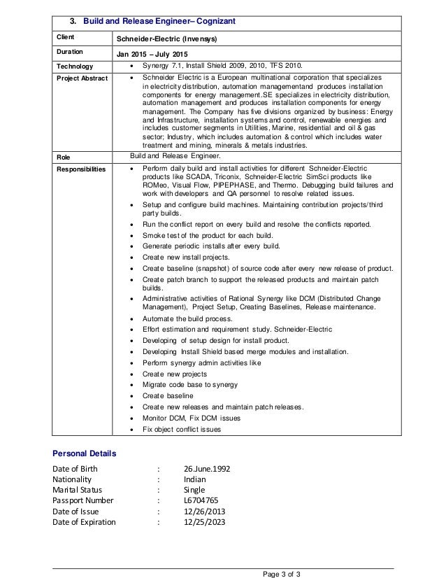 usha buildandrelease resume