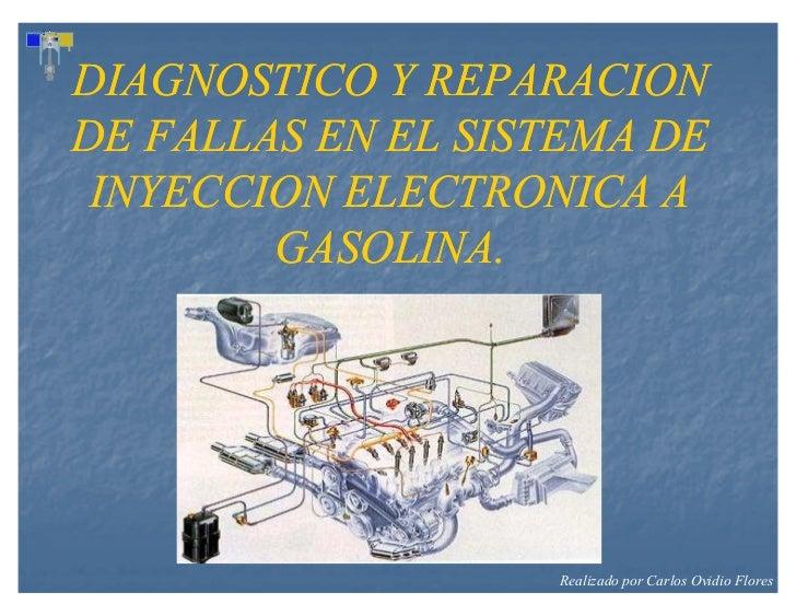 DIAGNOSTICO Y REPARACIONDE FALLAS EN EL SISTEMA DE INYECCION ELECTRONICA A        GASOLINA.                   Realizado po...