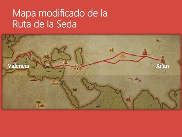 Mapa modificado de la Ruta de la Seda