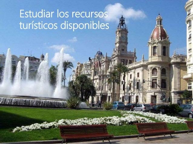Estudiar los recursos turísticos disponibles