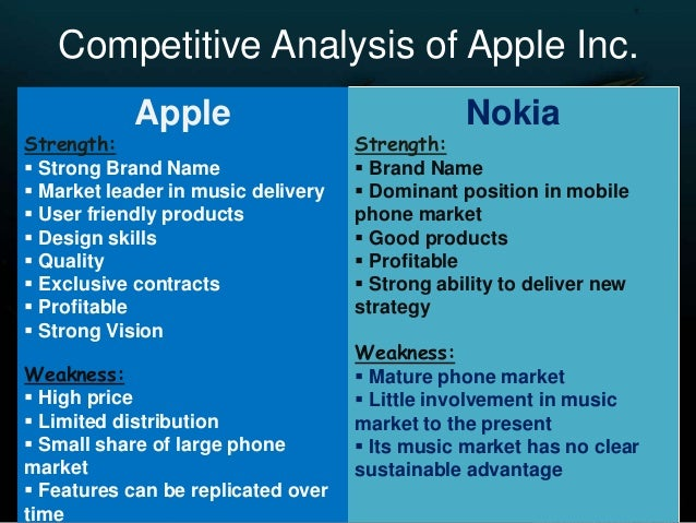 Competitive Analysis Between Apple and Nokia