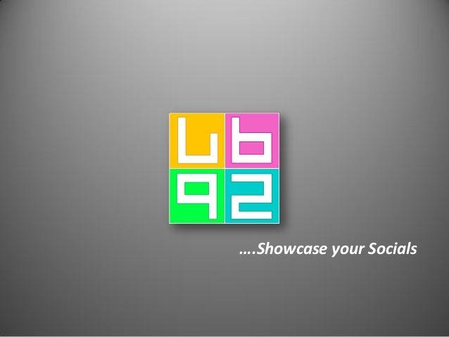 ….Showcase your Socials