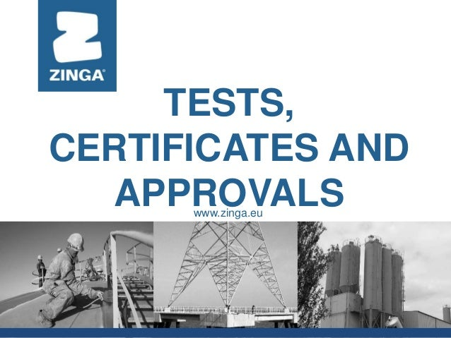 zm ppt certificates and test reports jva