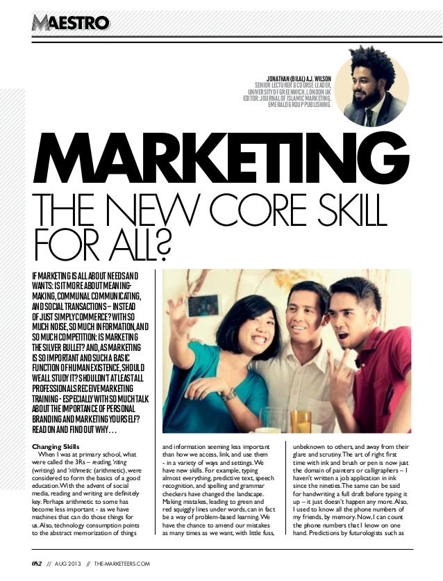 082 // AUG 2013 // THE-MARKETEERS.COM AESTROAESTRO Ifmarketingisallaboutneedsand wants:isitmoreaboutmeaning- making,commun...