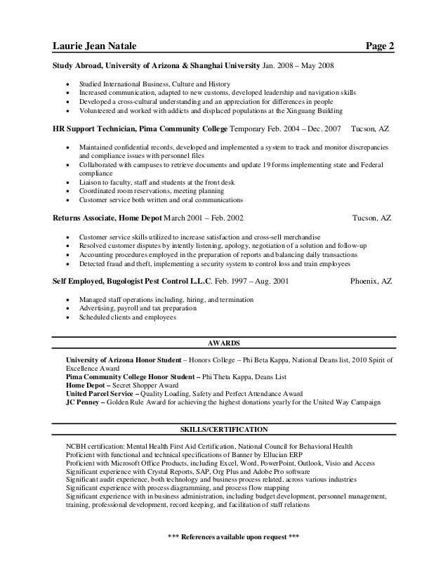 linkedin laurie natale new resume