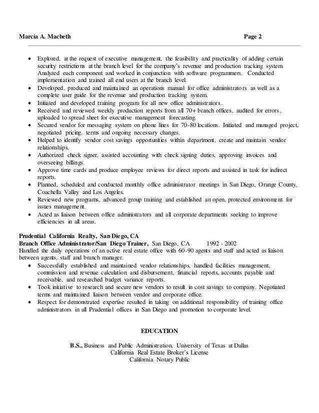 macbeth resume