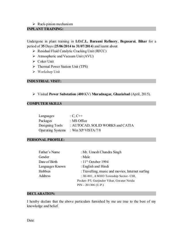 nitish resume