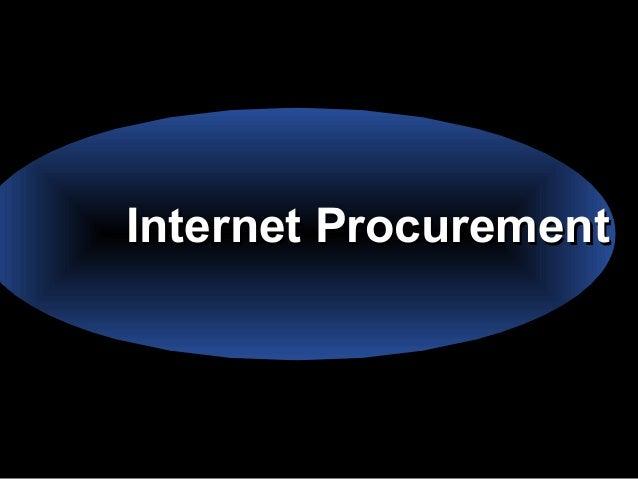 Internet ProcurementInternet Procurement