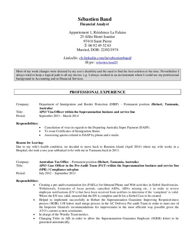 sebastien baud u0026 39 s cv in english as at june 2015