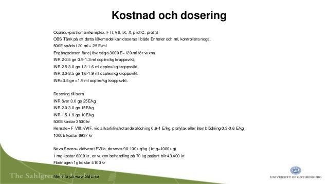 cyklo f dosering