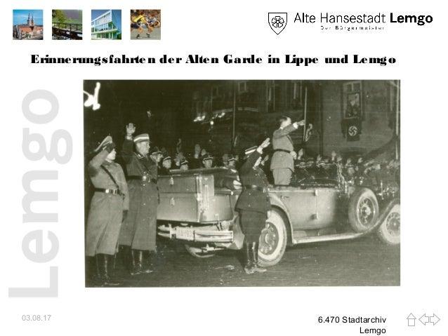 Erinnerungsfahrten der Alten Garde in Lippe und Lemgo 03.08.17 6.470 Stadtarchiv Lemgo