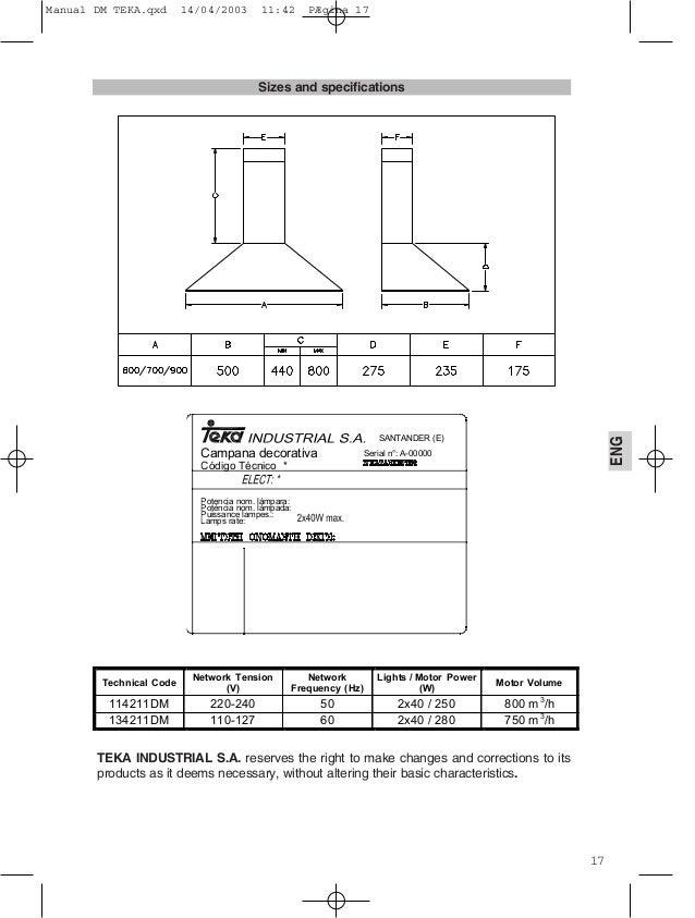 Campana teka dm 70 - Instalacion campana extractora ...