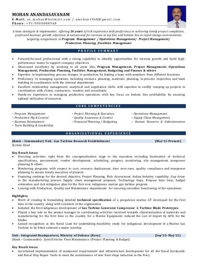Resume- Mohan