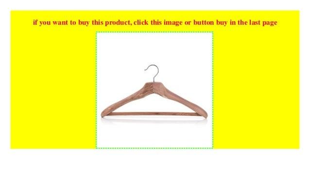 HANGERWORLD 3 Robuste XL Zedernholz Kleiderb/ügel 50cm Anti-Rutsch-Einlage auf Hosensteg
