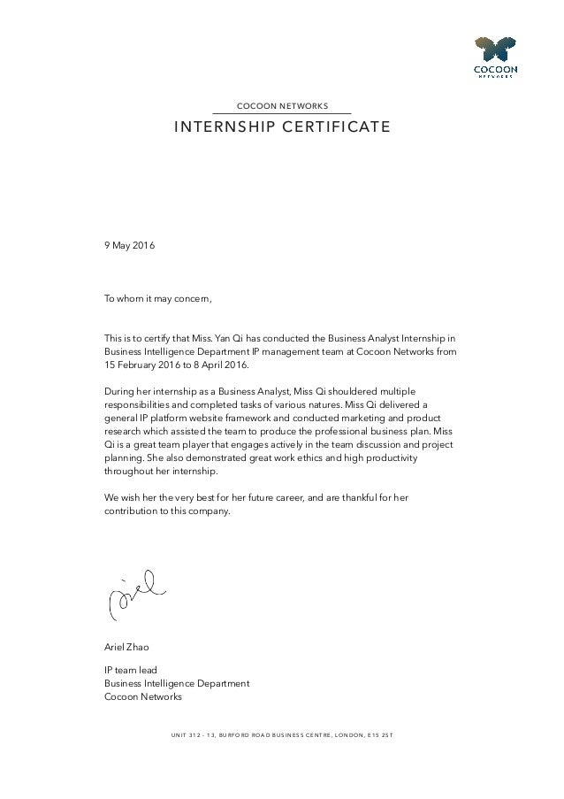 Internship Reference Letter Sample from image.slidesharecdn.com