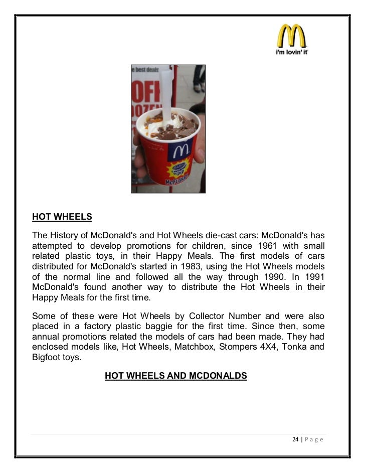 project on mcdonalds marketing mix Free essay: project on mcdonald's marketing mix acknowledgment i would like to express my heartfelt gratitude to all the contributors who helped me in.