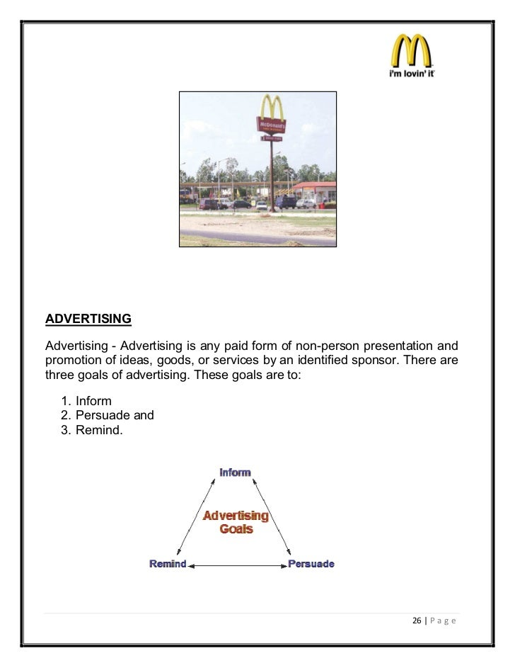 ADVERTISINGAdvertising - Advertising is any paid form of non-person presentation andpromotion of ideas, goods, or services...