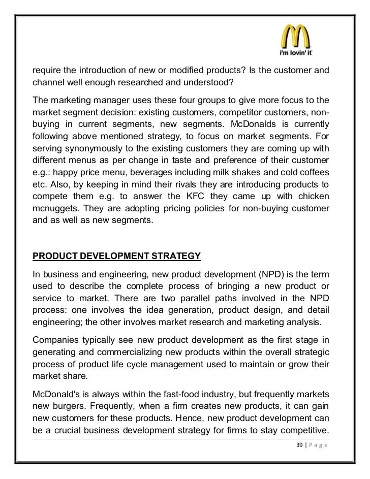 recommendation for mcdonald customer service The business outlook at mcdonald's is mixed  for promoting unhealthy eating  habits, leading many of its customers to put on pounds 2004's.