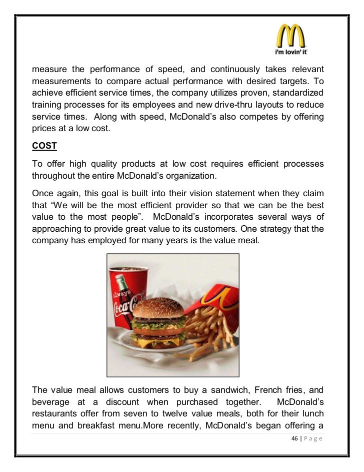 mcdonalds strategic information technology Creating a strategic technology plan for business with four simple steps: goal setting, needs analysis, organizational development & final plan production.