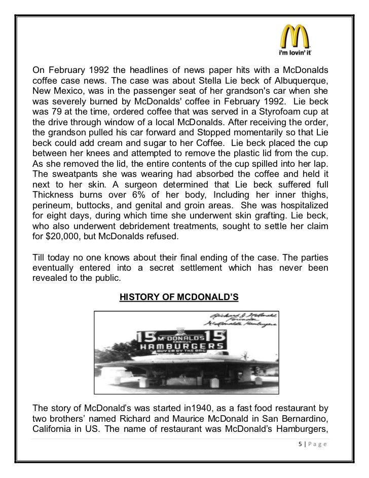 mcdonalds marketing principles essay The issue of marketing to children really brings that into focus with food marketing a timely lens, the issue of obesity a hot health care crisis, and mcdonald's handling of responsibility, as one of the world's largest fast food chains, a case in point.