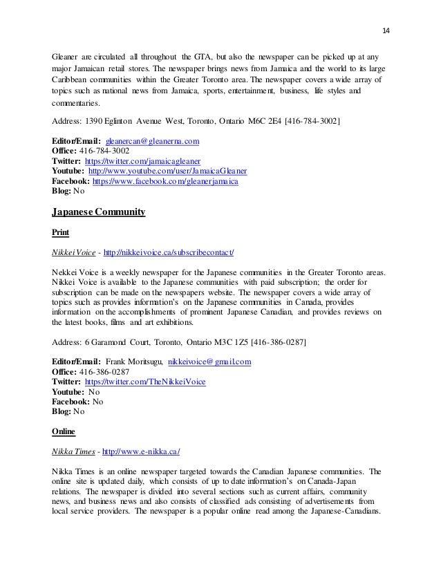GTA Diaspora Media Booklet OCT 2013