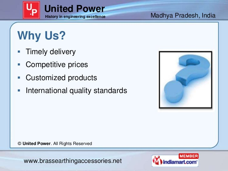 United Power            History in engineering excellence   Madhya Pradesh, IndiaWhy Us? Timely delivery Competitive pri...