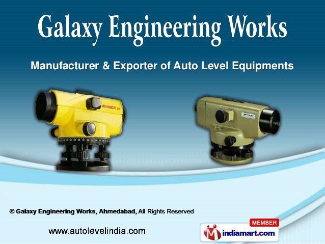 Manufacturer & Exporter of Auto Level Equipments