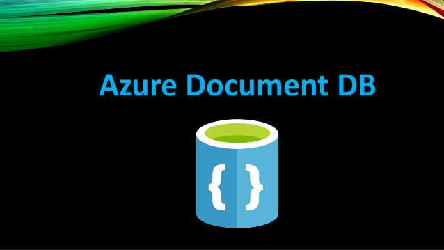 AZURE DOCUMENT DB Document DB – NoSQL DBaaS (Designed to leverage Programming standards JSON and JS) In DocumentDB, you ca...