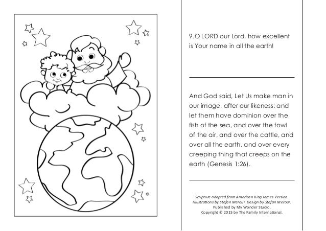 4 - Psalm 8 Coloring Page